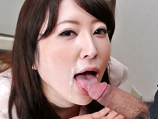 Broad in the beam Abb� Fit together Noeru Mitsushima Gives Awesome Blowjob - JapanHDV