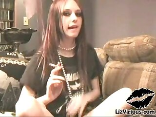 Liz Vicious Goth Teen Smoking