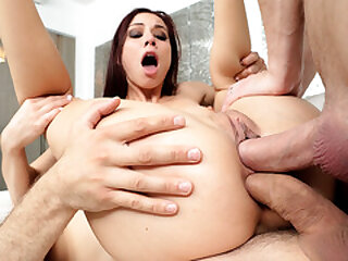 Aidra Fox double penetrated by hung studs