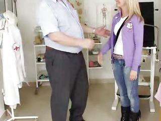 Blonde teen babe Bella Anne fetish hospital vagina exam