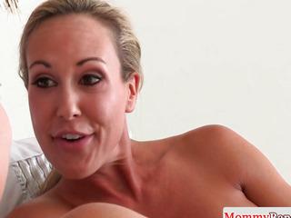 Breasty cougar Brandi Love rims in taboo threesome