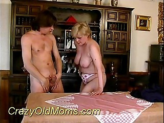 Crazy old mom sucking hard sex