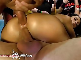Hot sexy brunettes and blonde German goo girls Babes Want anal fuck during vagina drilling and blowjob - Compilation